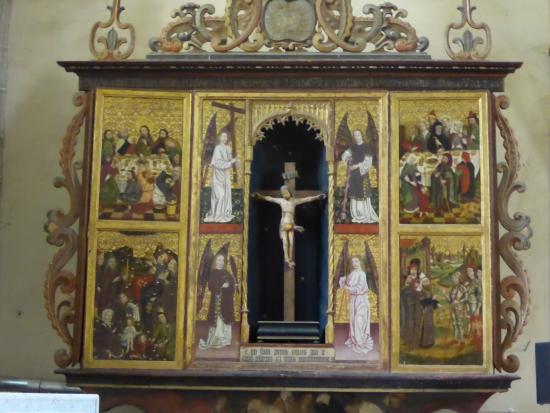 Medias, Rumania: Retable d'un autel secondaire.
