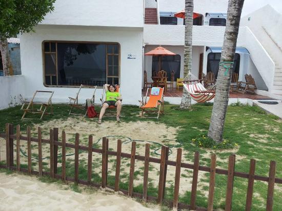 Casita de la Playa: Ecco il cortile sulla spiaggia