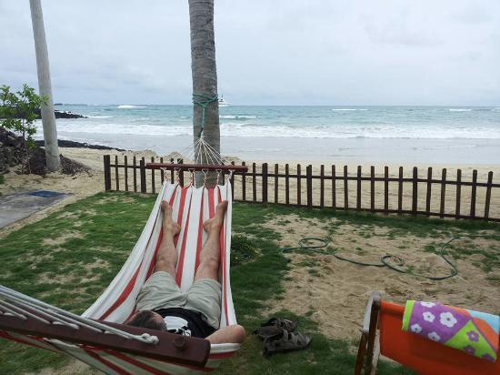 La Casita de la Playa: vista mare dal cortile dell'albergo