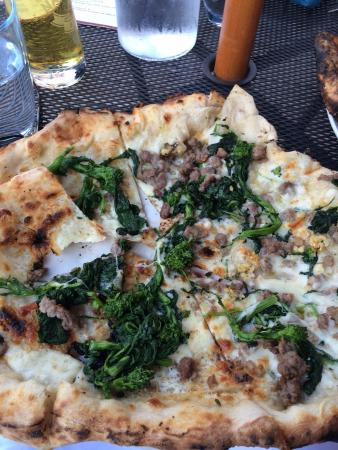 Bridgeport, CT: Pizza with sausage, garlic and broccoli rabe