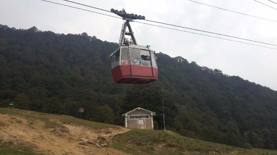 Ropeway Cable car from Joshimath to Auli carrying approx 25 people at a time