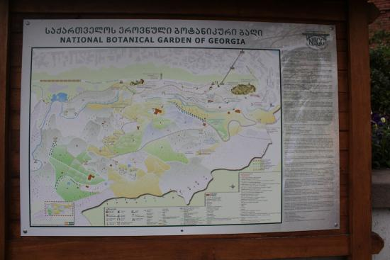 Map Of Gardens Picture Of National Botanical Garden Of Georgia - Georgia national map