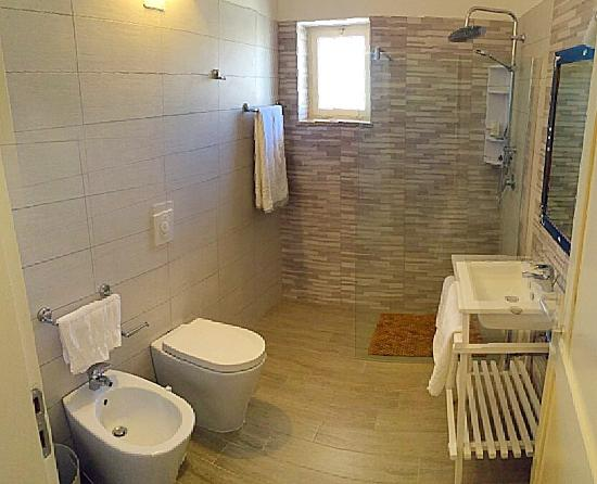 hotel albatros bagno con doccia idro