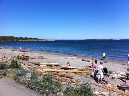 Oak Bay, كندا: Willows Beach and Mt. Baker in the distance.