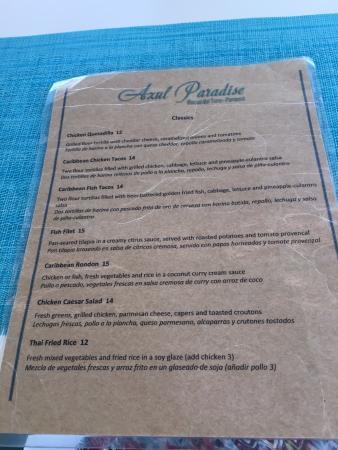Lunch menu part 1