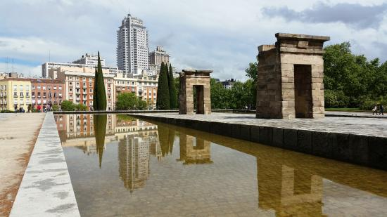 templo de debod view of madrid from the temple