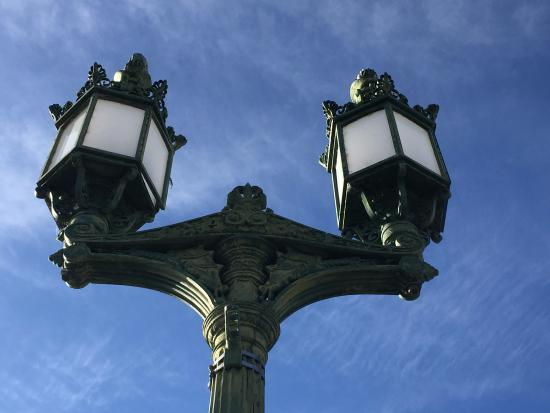 Lake Havasu City, AZ: One of the lamps that are on the bridge