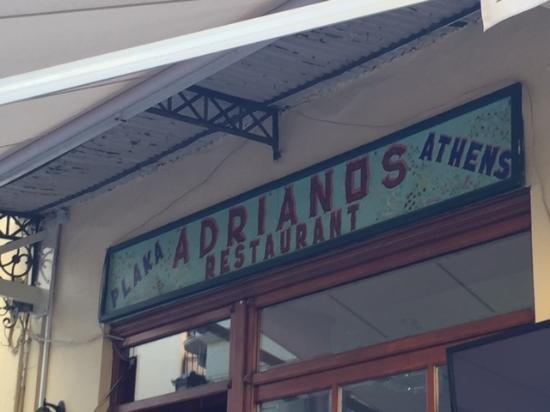 Andrianos: Adrianos Restaurant Plaka