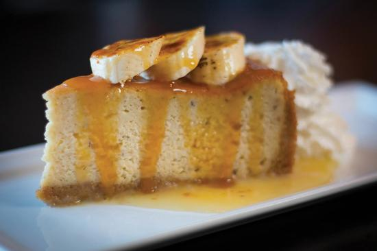 Shenandoah, TX: Roasted Banana Cheesecake - Topped with brulee of fresh banana and salted rum butterscotch.