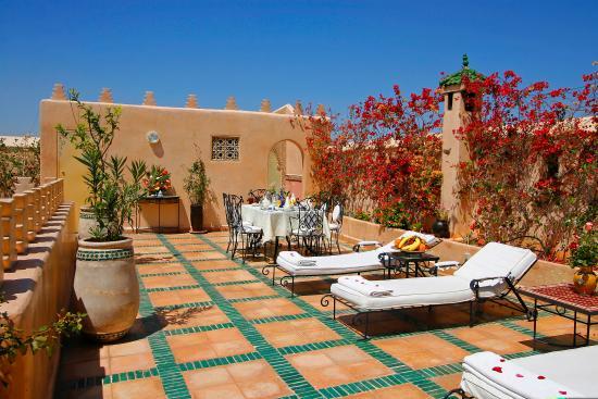 Riad & Spa Esprit du Maroc : Terrasse