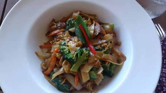 Ponte Vedra Beach, FL: The Pad Kee Maou Lunch Special for $7.95.( Drunken Noodles Dish)