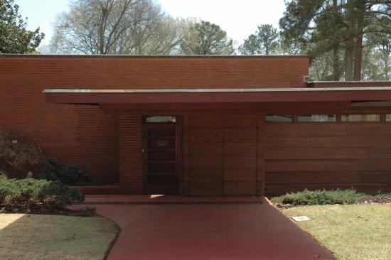 Frank Lloyd Wright S Rosenbaum House Carport And Front Entry