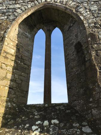 Rathfran Abbey: Fine lancet window of Rathfran Priory