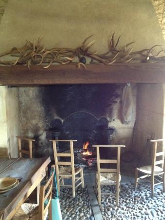Villefranche-du-Perigord, Frankrike: The fire place