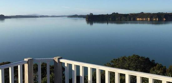 Kerikeri, Nueva Zelanda: Master suite balcony in the Homestead