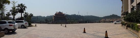 Dongtou County, China: Temple beside hotel. Noise of prayers (and fireworks) will wake you up before 6:00am