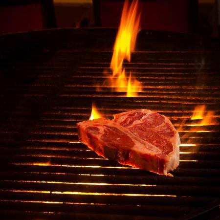 Caesar's Steak House and Lounge : Charbroiled T-Bone Steak