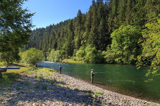 Vida, Орегон: McKenzie River - in the Lodge back yard!