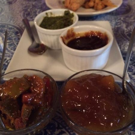 Jewel of the Crown, Cuisine of India: Mint, Tamarind, Pickle, Mango Chutneys