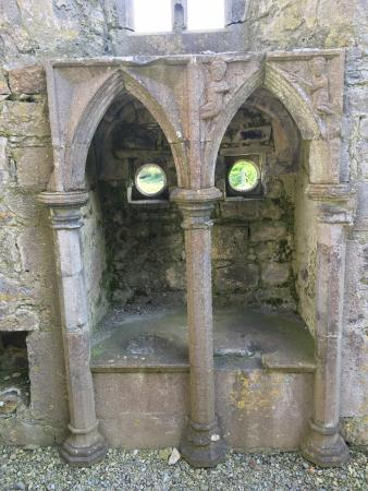 Rosserk Friary: Two little handbasins to wash the precious vessels in the Franciscan Friary at Rosserk
