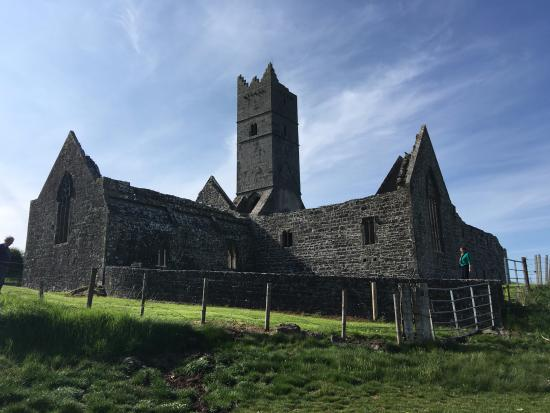 Rosserk Friary: The Franciscan Friary at Rosserk from the bank of the Moy