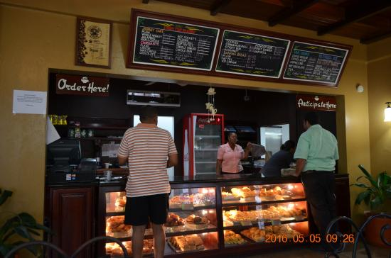 The Great House: This Radisson bakery is where you eat breakfast daily or anytime.