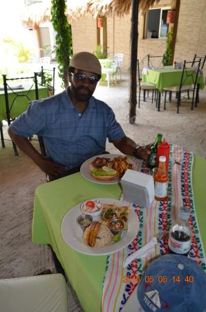 The Great House: San Pedro Caye by water taxi had terrific local food and beer.