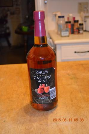 The Great House: I bought a bottle of cashew wine in season.