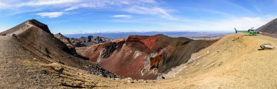 Tongariro National Park, New Zealand: The view into Red Crater