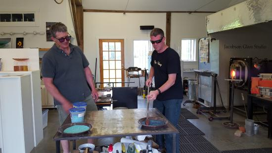 David Jacobson Glass : Adding color