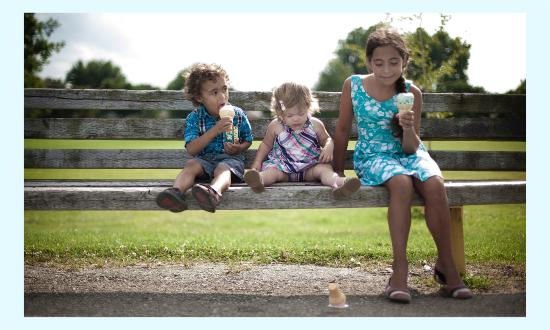 Forest, Canada: Grand kids enjoying some cool treats from Karyn's Java & Scoops!