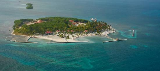 Turneffe Island, Belize: Photo from helicopter ride to island