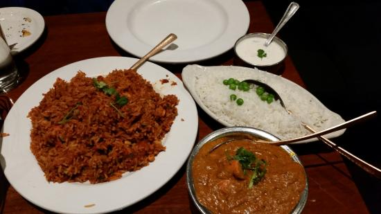 Little India : Chicken Biryani (Left) Chicken Tikka Masala (right)