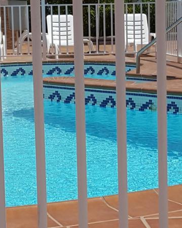 Blick vom Las Perlas im Apartment Nr. 4 Von der Sauberkeit bis zum Pool alles in Ordnung.