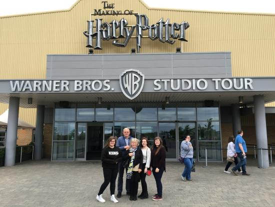 Leavesden, UK: Family pic outside, all very tired but really happy xx