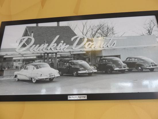Hallstead, PA: Fabulous Photo of the very first Dunkin Donuts, established in 1950 in Quincy, Massachusetts