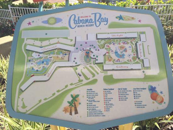 Map of Cabana Bay - Picture of Universal's Cabana Bay Beach Resort Cabana Bay Beach Resort Map on