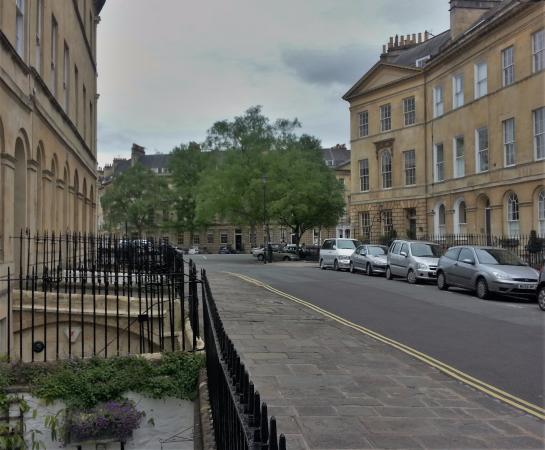 Looking towards Laura Place from Henrietta House