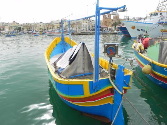 Marsaxlokk, Malta: Close of fishing boat