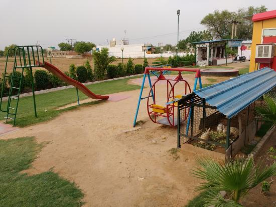 Behror, India: Children play area & rabbit enclosure