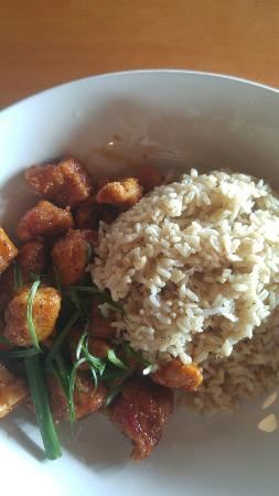 Oak Brook, IL: Sweet and Spicy Chicken w/Brown Rice