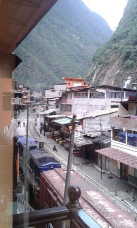 Los Caminantes: Foto tomada desde la habitación del hotel.
