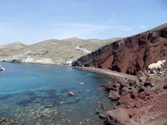 Akrotiri , Yunani: Hike to the beach