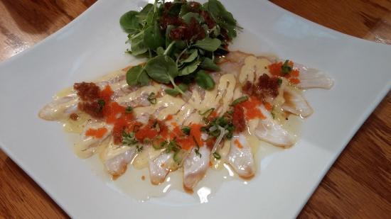 Skippack, Pensilvania: White fish Carpaccio