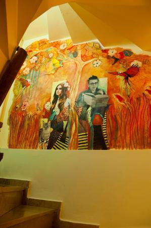 Stray Cat Hostel: A mural by Nedda Neggezsy