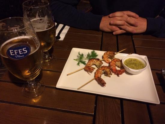 Kahvedan: Grilled shrimps