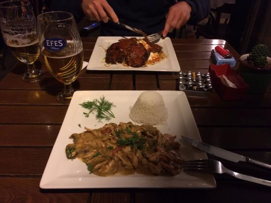 Kahvedan: Chicken curry and Bodrum specialty