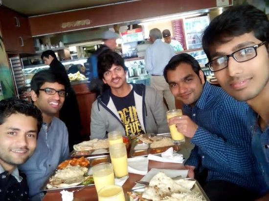Badshah Imbiss Sweet Center: Photo with friends at the Badshah Restaurant