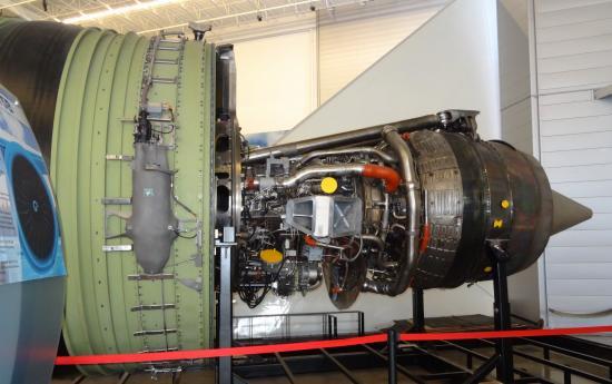 Mukilteo, WA: GE 777 TurboFan engine. *Actual* engine!