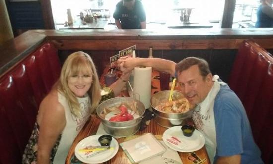 Joe's Crab Shack: Enjoying lobster and King crab for our 26th Anniversary.